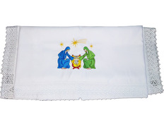 Table-cloth for altar, with embroidered Christmas