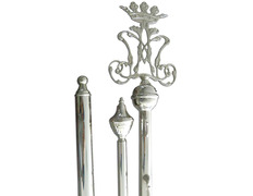 Rod holder standard silver badge Mary