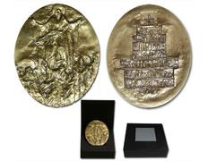 Bronze medallion souvenir of the Holy Year