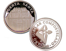 Silver coin remembrance of the Holy Door