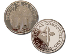 Silver coin remembrance of the Portico of Glory