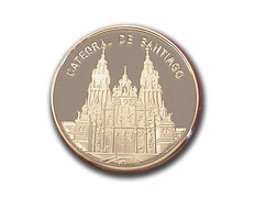 Currency with silver bath - Cathedral of Santiago