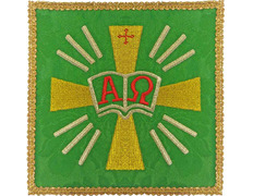 Palia embroidered Alpha and Omega | Sets-Altar green