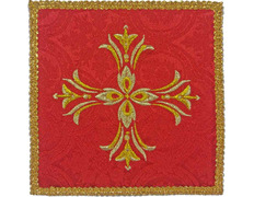 Palia embroidered Cross | Cloths altar red