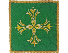 Palia embroidered Cross | Cloths altar green