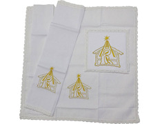 Altar Linens chalice pall Christmas Embroidery