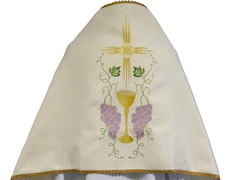 Cloth shoulders in polyester with embroidered liturgical