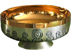 Paten in silver of the Last Supper