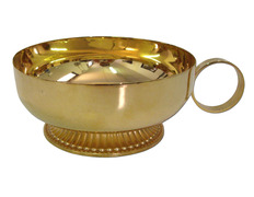 Chalice paten with handle and foot