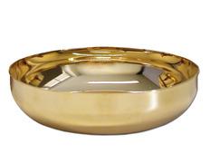 Ciborium paten of gold-plated metal