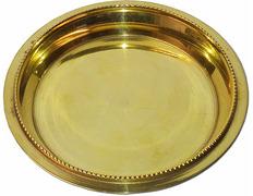 Paten of gold metal