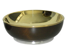 Paten of silver and wooden without foot