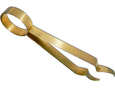 Tongs for charcoal gold