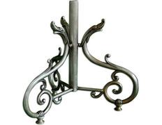 Porta Cruz parish silver plated metal