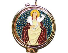 Porta per diem gold-tone with enamel in color