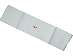 Purifier white with red Cross embroidered