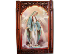 Altarpiece Virgin of the Miraculous | carved Wood