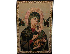 Tapestry Icon Byzantine Lady Perpetual Help