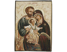 Tapestry icon byzantine Holy Family