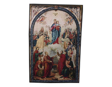 Tapestry of blessed Virgin Mary Help of christians