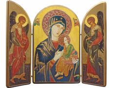 Triptych of Our lady. Mrs. of the Perpetual Socorro
