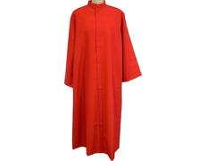Robe of an altar boy, red in 100% polyester