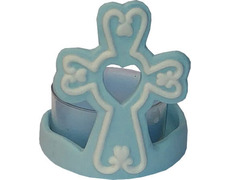 Cross with light wax blue