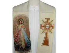 Stole with Christ of the Divine Mercy embroidered