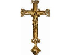 Cross parish with elements chiseled