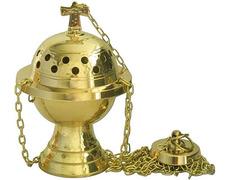 Censer, a small metal golden