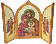 Tryptic religious | Holy Family byzantine style