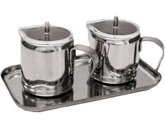 Cruets with stainless steel lid