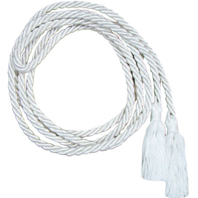 Altar boy cincture in white color