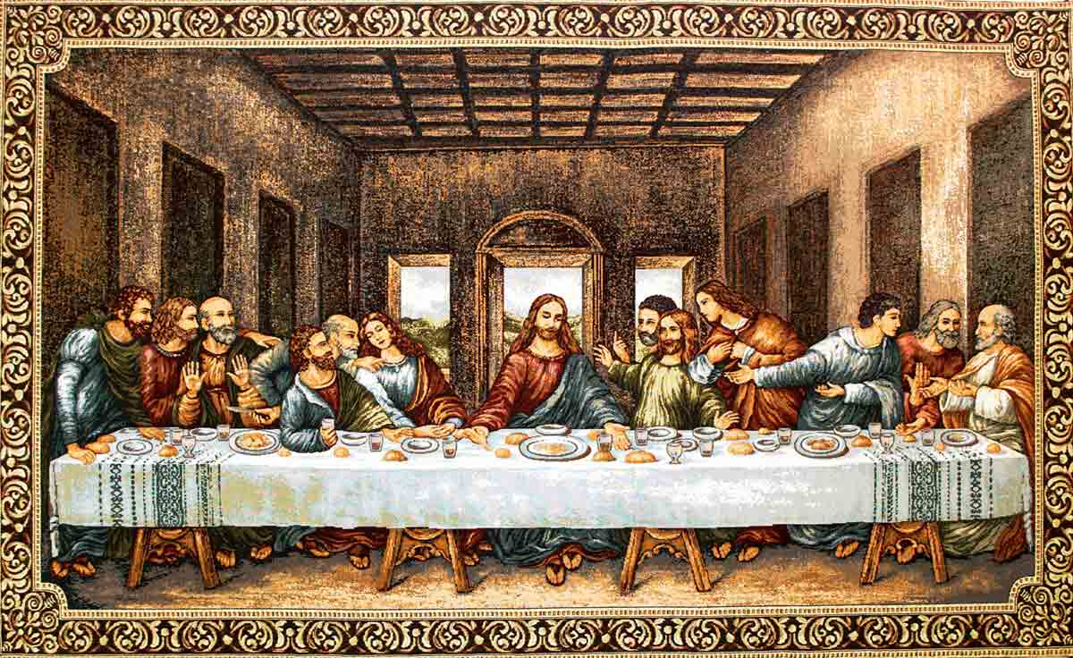 Tapestry Of The Last Supper Of Leonardo Da Vinci