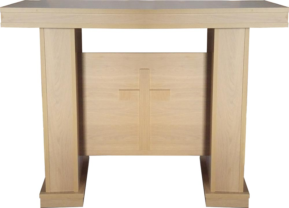 altar table in imitation wood wooden tables for church